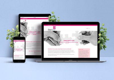 Webdesign tijdelijke pagina (one page) DuoDesk