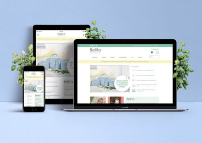 Design en beheer webshop Belito.nl voor babykleertjes
