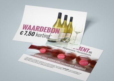 Waardebonnen webshop Wijnvoorelkmoment.nl, afmeting A6
