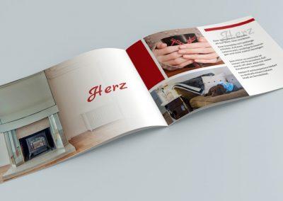 Ontwerp brochure Duitse makelaar - binnenzijde